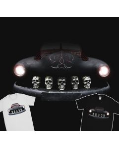 1950 Mercury Custom Grill Hotrod T-Shirt 100% Cotton