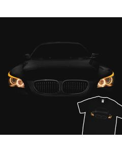 BMW E60 530 T-Shirt Men Gift Idea Headlights Glow
