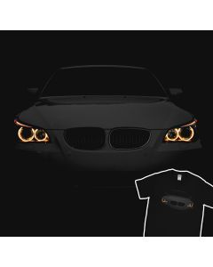 BMW E60 T-Shirt Angry 530 Angel Eyes Lights 100% Cotton