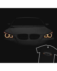 BMW E60 T-Shirt Angry 530 Angel Eyes Lights 100% Cotton