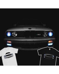 BMW E30 M3 T-Shirt Headlights Glow 3 Series Horse Power