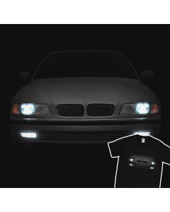 BMW E38 T-Shirt Headlights Glow 7 Series Bumer Bimmer