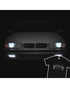 BMW E38 T-Shirt Headlights Glow 7 Series Bumer Bimmer