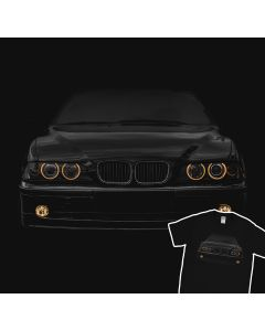 BMW E39 T-Shirt Yellow Headlights 100% Cotton