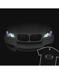 BMW X5 E70 M 2010-2013 T-Shirt Headlights Glow xDrive 100% Cotton