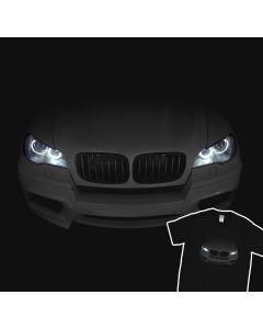 BMW X5 E70 M 2010-2013 T-Shirt Headlights Glow xDrive 100% Cotton