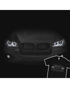 BMW X6 E71 T-Shirt Headlights Glow 100% Cotton
