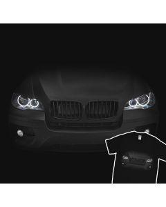 BMW X6 E71 T-Shirt Headlights Glow 100% Cotton