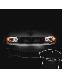 BMW 1M E87 2004-2013 T-Shirt Headlights Glow Led 100% Cotton