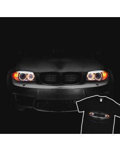 BMW 1M E87 2004-2013 T-Shirt Headlights Glow Led 100% Cotton