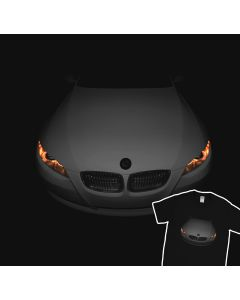 BMW E92 Devil Eyes T-Shirt Headlights Glow 100% Cotton