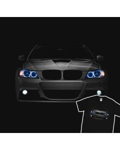 BMW E92 M3 T-Shirt Blue Angel Eyes Oss Headlights Glow