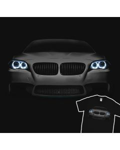 BMW M5 F10 Black T-Shirt Bimmer 5er Angel Eyes Mpower