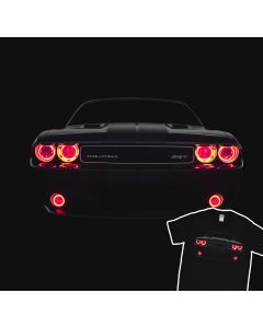 Dodge Challenger SRT Led Headlights Muscle Racing Car T-shirt
