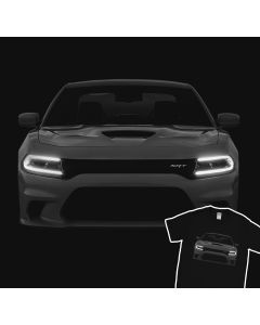 Dodge Charger Hellcat SRT T-shirt 100% Cotton
