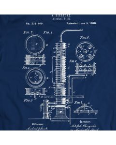 Alcohol Still Liquor Distiller Patent T-shirt Mens Gift Idea 100% Cotton Birthday Present