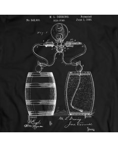 Beer Pump Process Barrel Patent Patent T-shirt Mens Gift Idea 100% Cotton Birthday Present