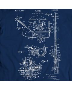 Carburetor H. Ford 1930 Patent T-shirt Mens Gift Idea 100% Cotton Birthday Present