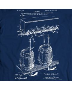 Cold Air Pressure Beer Patent T-shirt Mens Gift Idea 100% Cotton Birthday Present