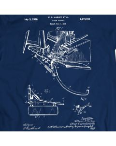 Harley Davidson Kickstand Patent T-shirt Mens Gift Idea 100% Cotton Birthday Present
