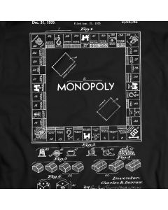 Monopoly Board Game Patent T-Shirt Holiday Gift Birthday Present