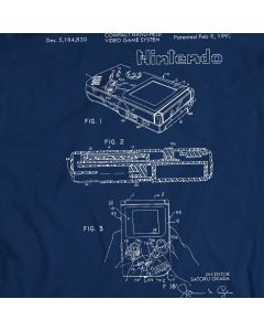 Nintendo Gameboy 1993 Game Patent T-Shirt Holiday Gift Birthday Present