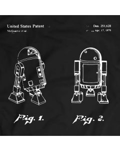 Star Wars R2D2 Patent T-Shirt Mens Gift Idea Movie Tee