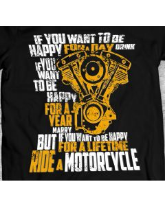 Ride a Motorcycle T Shirt Unisex/Men Gift Idea Present Shovel Engine Harley Davidson Motocycle