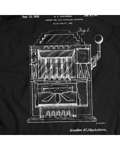 Vintage Slot Machine Patent T-Shirt Poker Tee 100% Cotton Holiday Gift Birthday Present