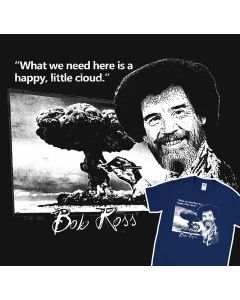 Bob Ross Funny Quote T-shirt Happy Little Fact