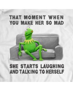 Laughting and Talking to Herself Kermit the Frog T-Shirt