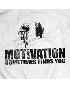 Motivational T-shirt Men Gift Idea Present Bear Chasing Cyclist Apparel