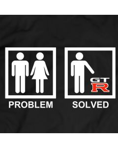 Nissan GTR Problem Solved Funny T-Shirt Mens Gift Idea 100% Cotton