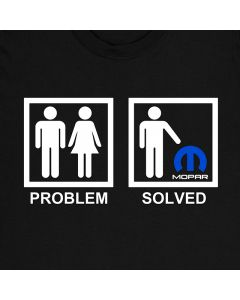 Mopar Problem Solved T-Shirt Auto Tee 100% Cotton