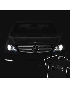 Mercedes-Benz C250 Sport 2012 Headlights Glow T-Shirt
