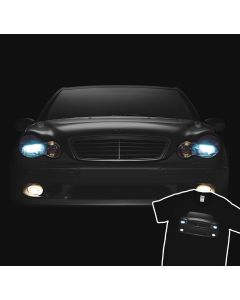 Mercedes Benz 2004 C-Class Headlights Glow T-Shirt