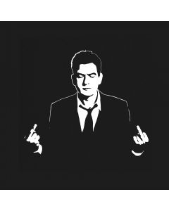 Charlie Sheen Middle Finger T-Shirt