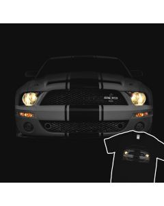 Mustang Shelby GT500 The Cobra Headlights Glow T-Shirt