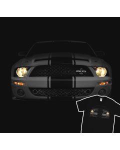 Mustang Shelby GT500 The Cobra Headlights Glow T-Shirt