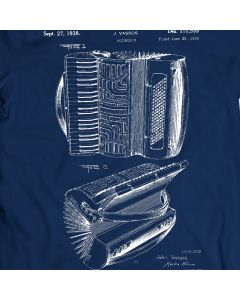 Accordion Patent T-Shirt 100% Cotton