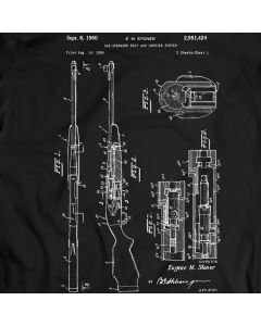AR-10 Battle Rifle Patent T-Shirt Mens Gift Idea 100% Cotton