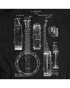 Banjo String 5 Vintage Resonator Tenor Guitar T-Shirt Mens Gift Idea