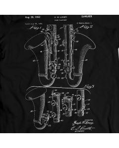 Bass Clarinet Patent T-Shirt 100% Cotton