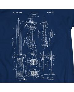 M9 Bayonet Military Knife Patent T-Shirt Mens Gift Idea
