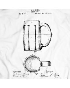 1876 Beer Mug Patent T-Shirt Mens Gift Idea