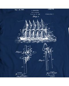 Bentzen Sailing Ship 1927 T-Shirt 100% Cotton