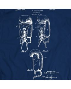 Boxing Glove Patent T-Shirt Mens Gift Idea 100% Cotton Sport Tee