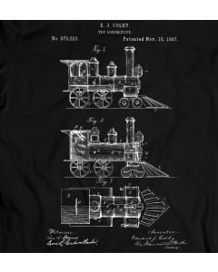 Colby Locomotive 1887 T-Shirt 100% Cotton