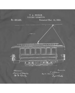 Edison Electric Locomotive 1893 T-Shirt