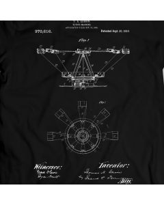 Edison Flying Machine 1910 T-Shirt 100% Cotton